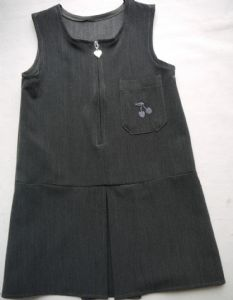 Drop Waist Cherry Pinafore